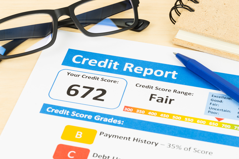 Credit report with fair credit score
